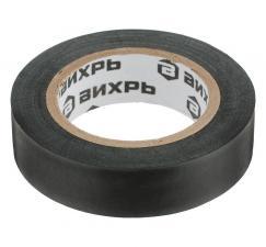 Изолента (19mm*20m*0,15mm) черная ВИХРЬ